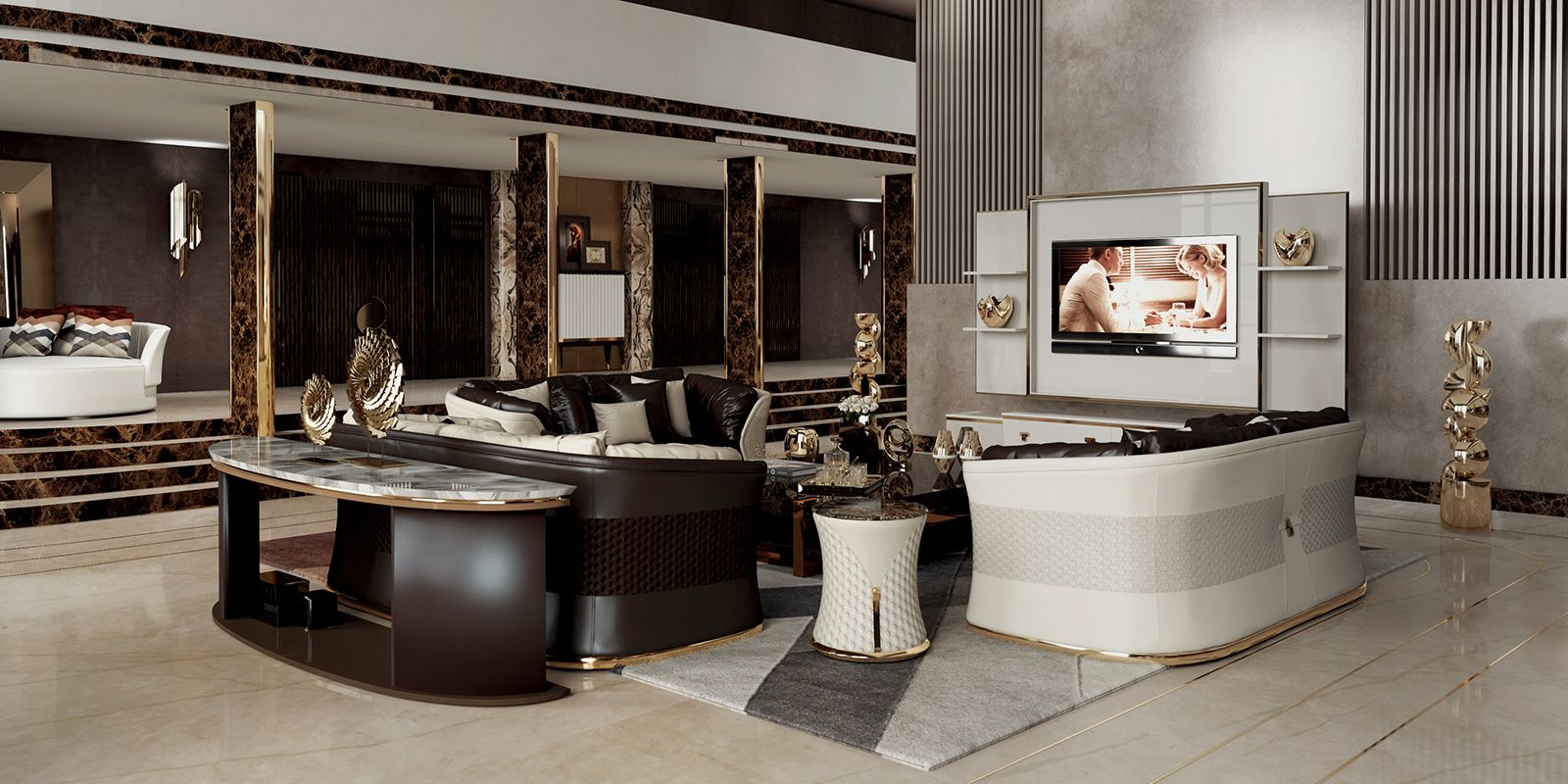 Vogue Collection Turriit Luxury Living Room In New York