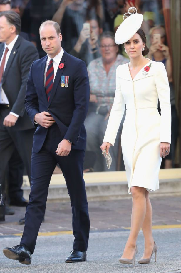 Duchess Kate dazzles in the same Alexander McQueen coat-dress that she wore to Princess Charlotte's christening.