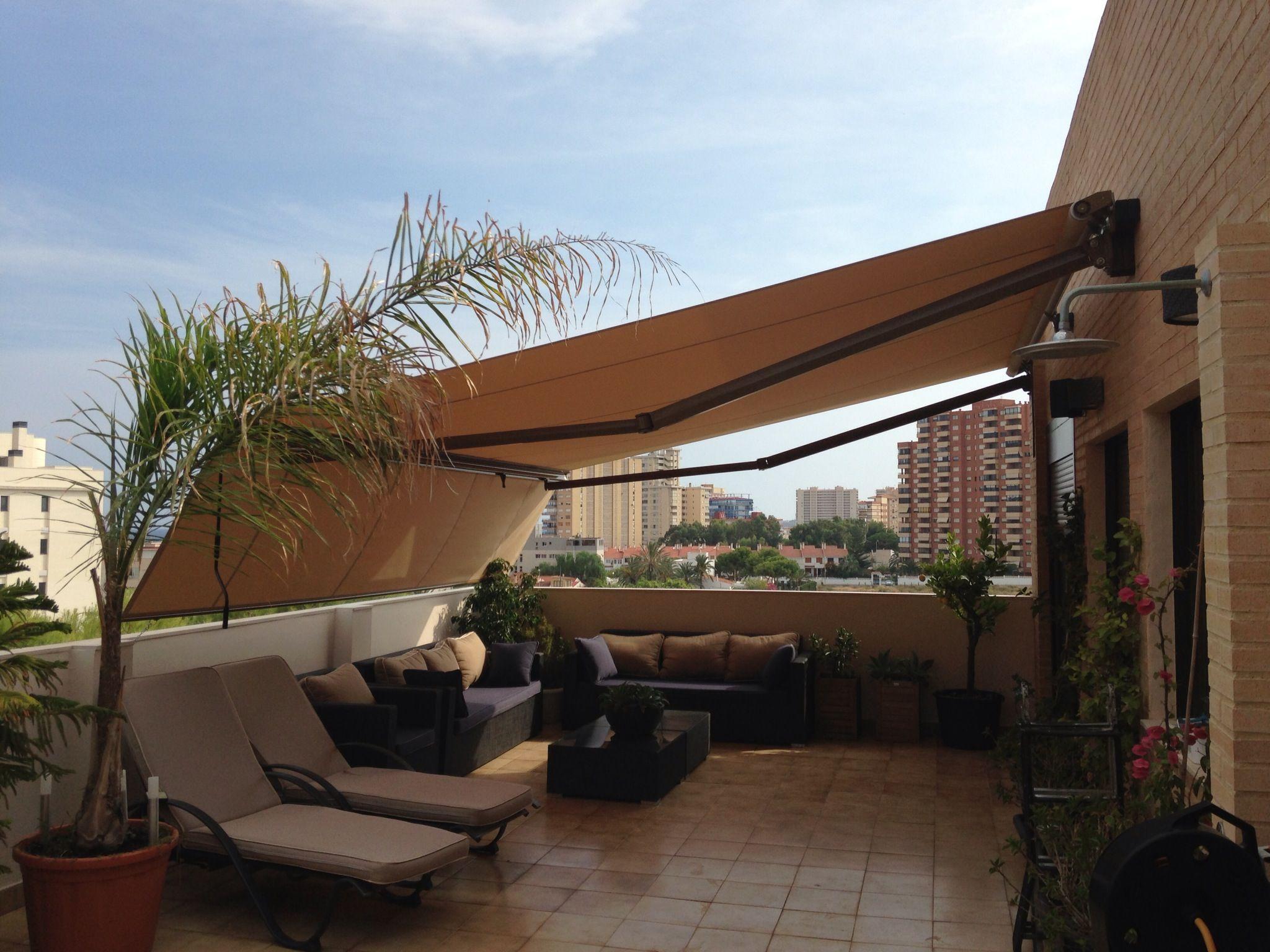 Toldo terraza toldos pinterest y - Toldos para patios interiores ...