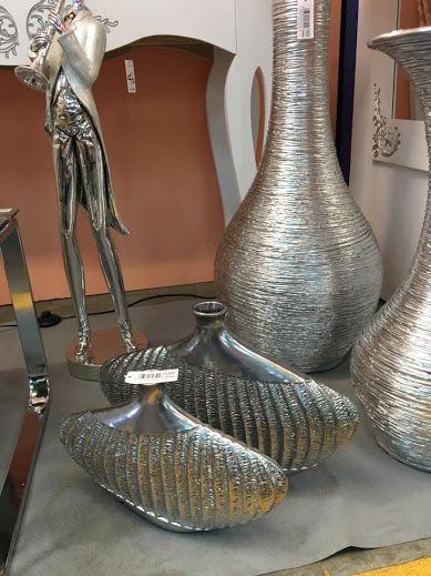 Jarrones decorados en plata en for Jarrones de vidrio decorados