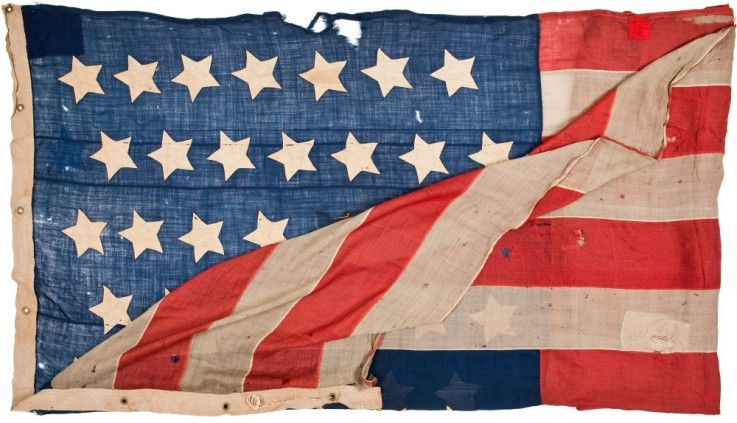 Civil War 35 Star U S Garrison Flag 1863 1865 With Images Civil War Flags Flags Of The World Civil War