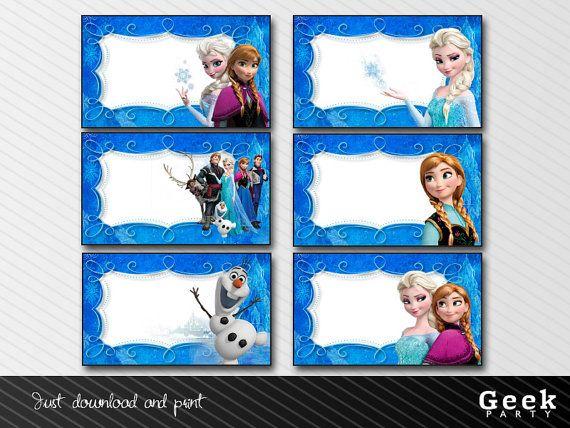 Frozen labels - INSTANT DOWNLOAD | School | Pinterest | School
