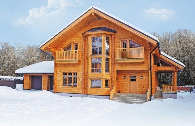 Modernes holzhaus  Modernes Holzhaus aus Finnland – Modell Scandinavia mit Garage ...