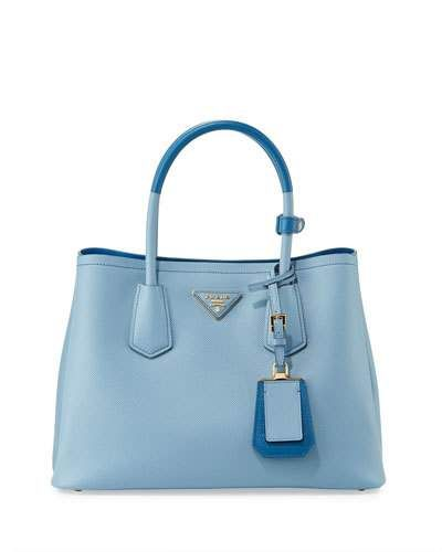 Saffiano Cuir Double Medium Tote Bag