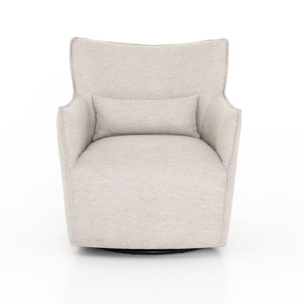 Kimble Swivel Chair Noble Platinum Four Hands Look Book Swivel