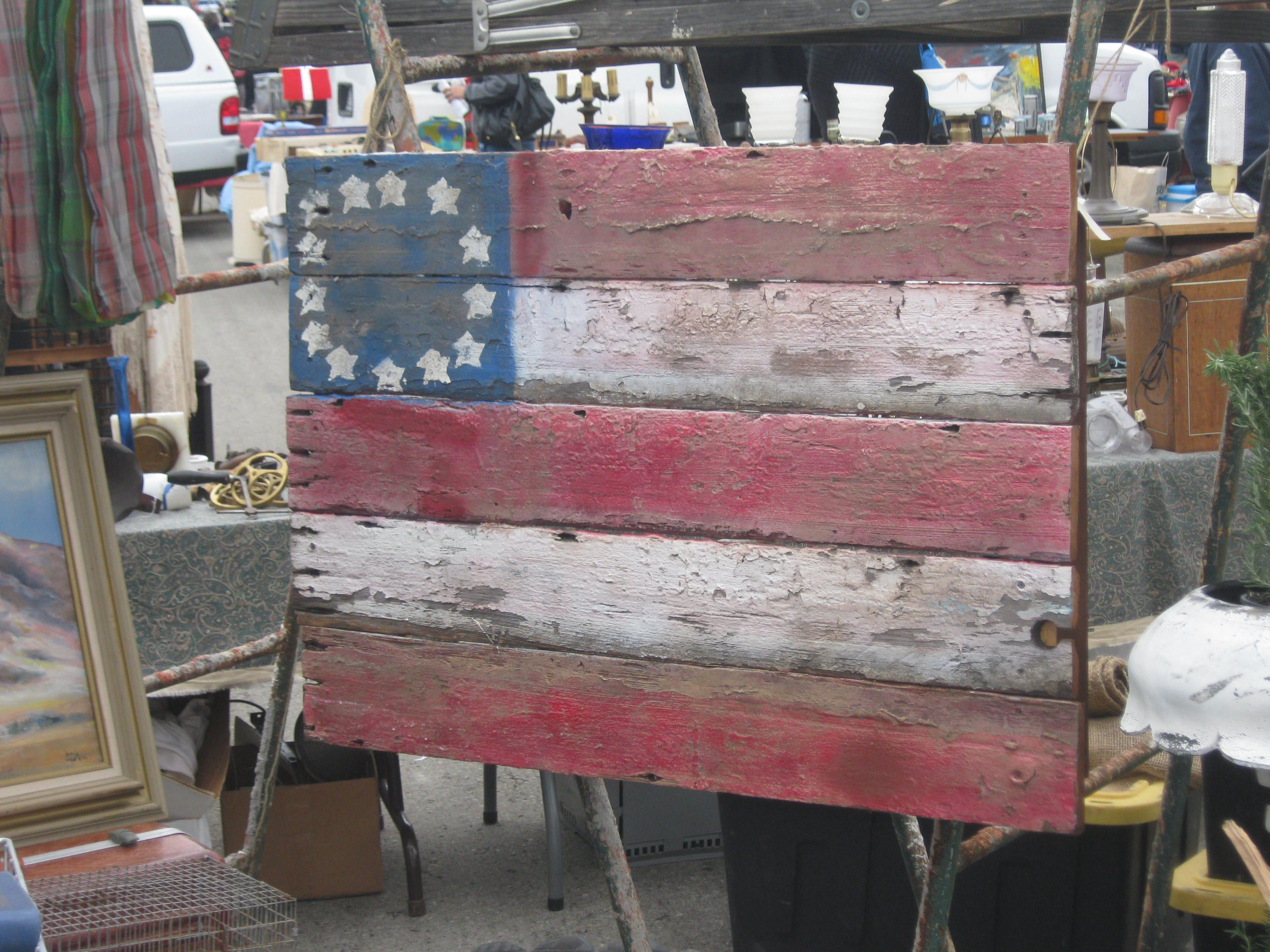Flag i made out of an old picket fence vintage love pinterest flag i made out of an old picket fence baanklon Image collections