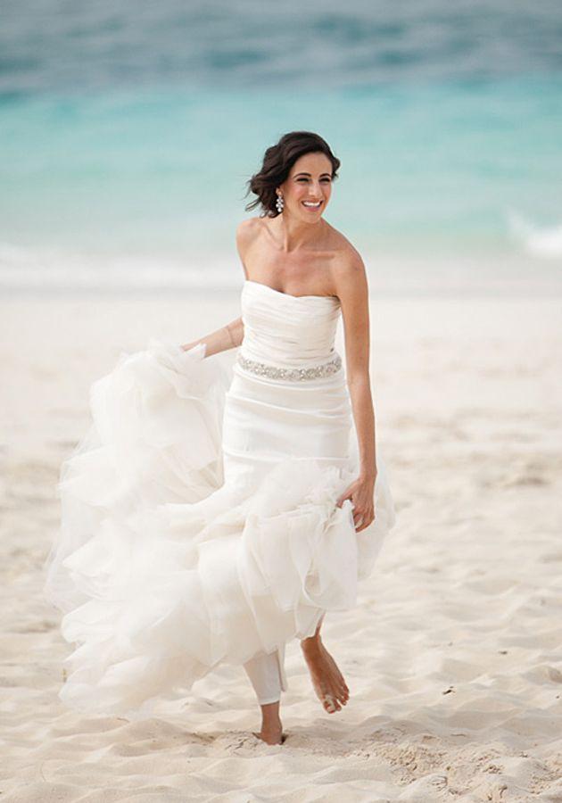 How To Hem A Beach Wedding Dress So You Can Wear High Heels After