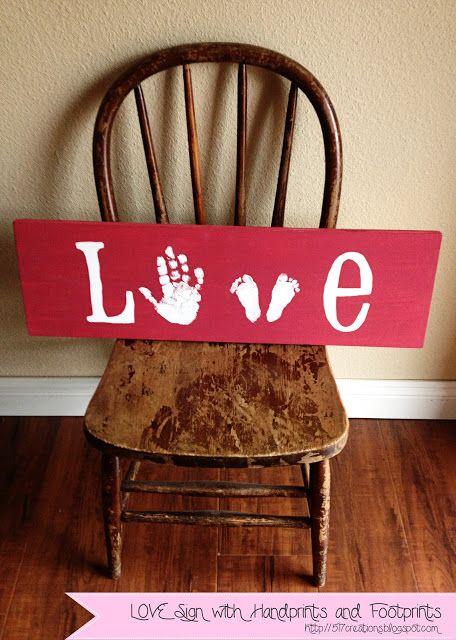 LOVE hand and footprints on canvas. #valentinesday #artcanvas