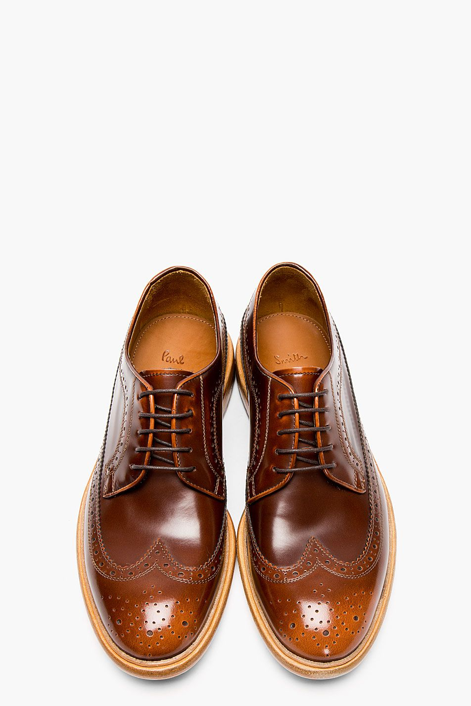 Paul Smith Men/'s Derby Shoes Senior Dark Tan