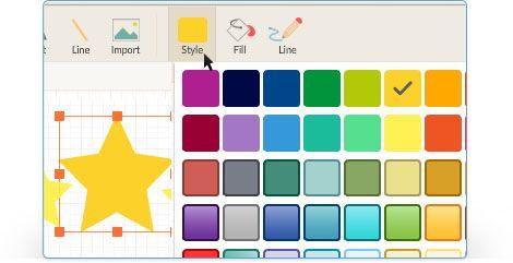 Temas y paleta de colores con 5 veces más rápido acceso