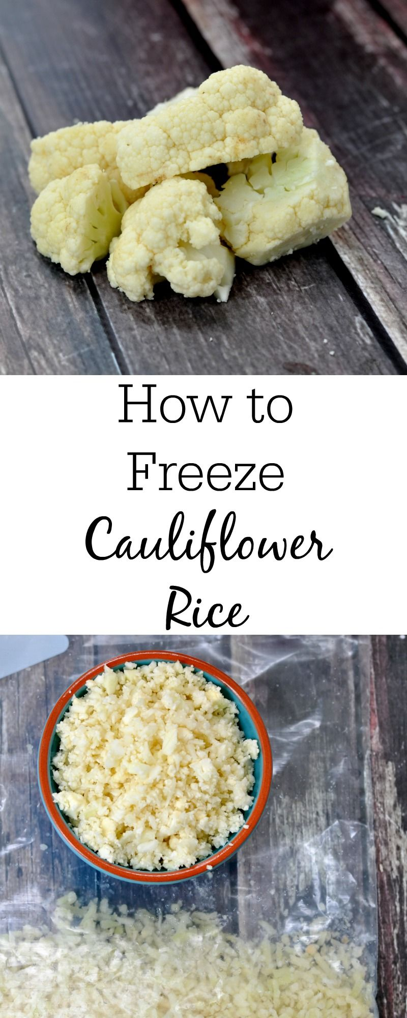 How To Perfectly Freeze Cauliflower Rice Raw Vegan Vegetarian