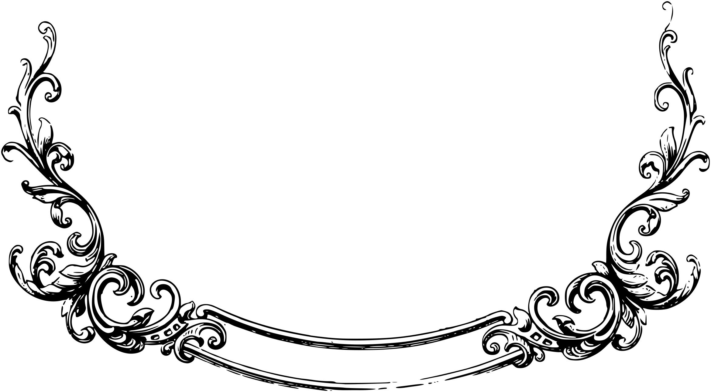 hight resolution of free scrolls clipart 4