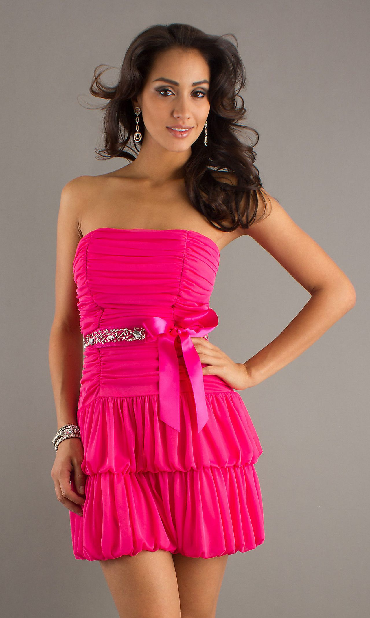 5057900a9fcdd Short Strapless Hot Pink Dress | 8~23~14 | Dresses, Strapless dress ...