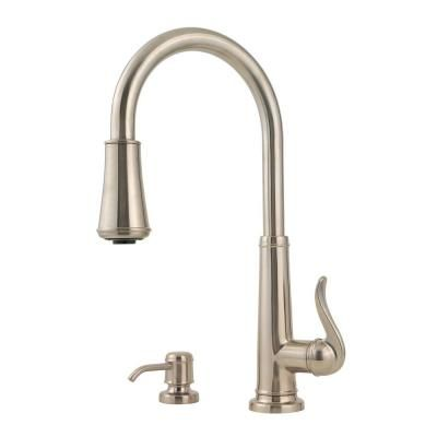 Pfister Ashfield Single Handle Pull Down Sprayer Kitchen Faucet In