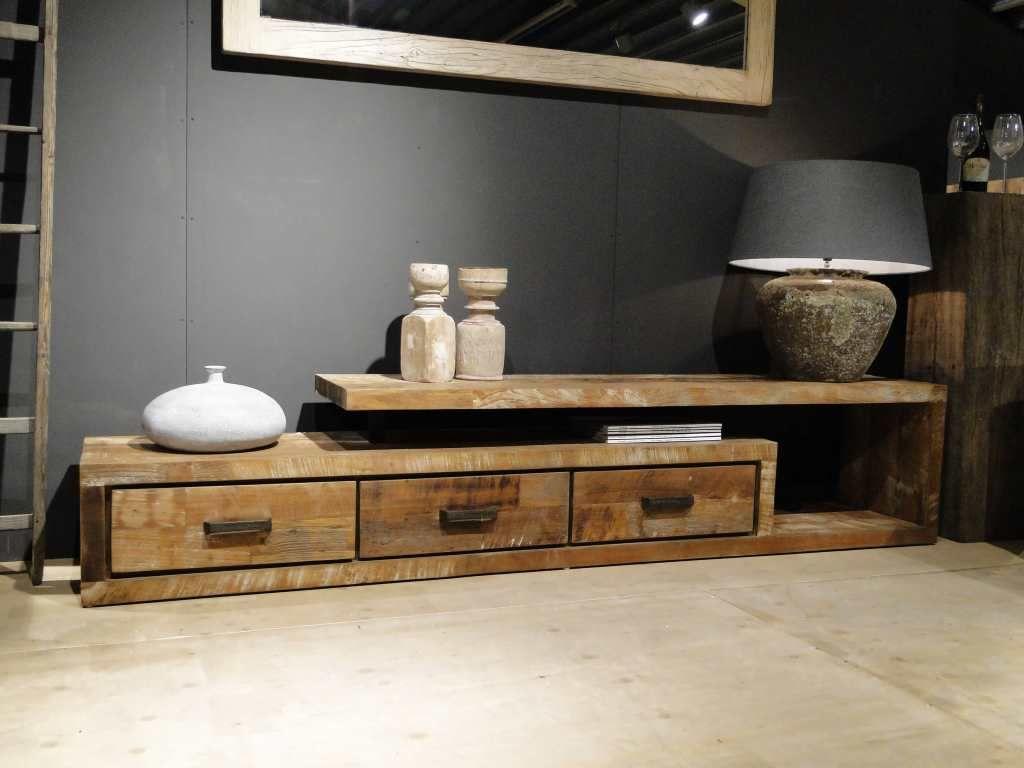 Tv meubel hout orvault showroom utrecht and woodwork