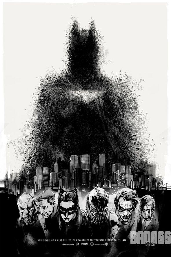 Posteres Artisticos De Batman O Cavaleiro Das Trevas Ressurge