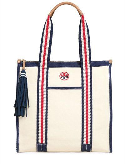 3e21310e8f8f TORY BURCH Logo Embroidered Cotton Tote Bag