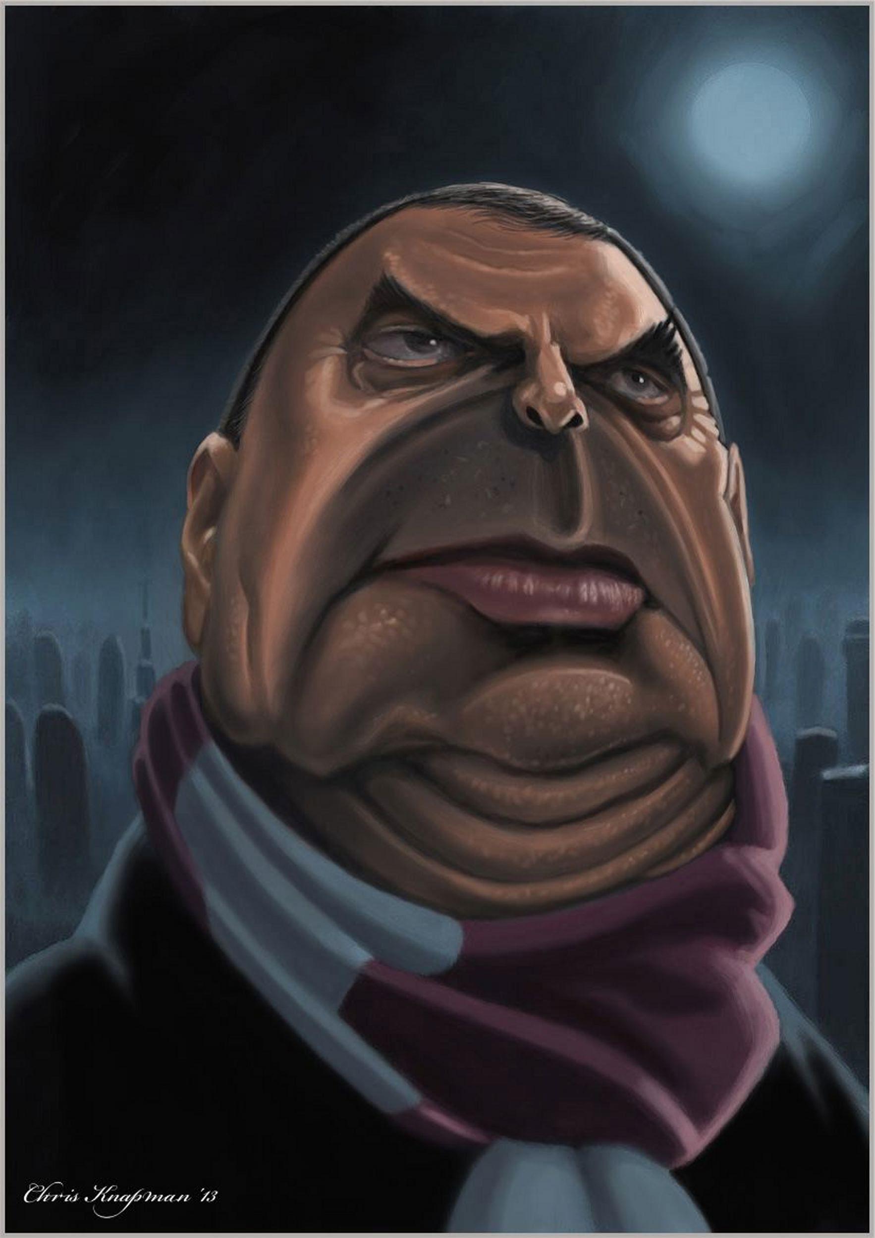 West Ham United Caricature With Attitude Celeb