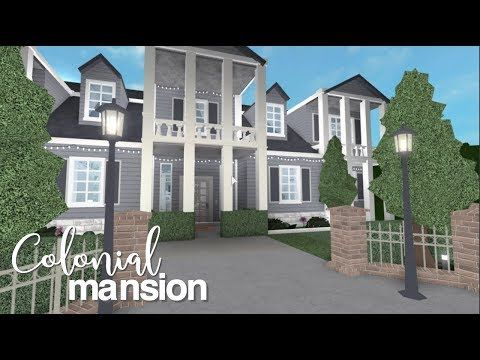 Bloxburg Cheap Family House 18k Colonial Mansion Mansions House Blueprints