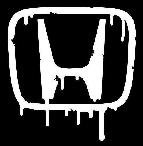 Honda Logo Bleeding Style 1 Custom Car Laptop Vinyl Decal Sticker For My Hubby Pinterest