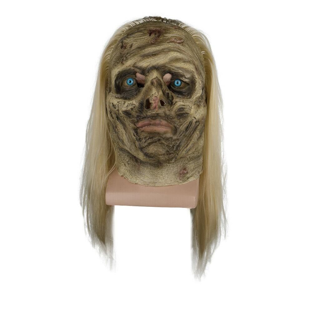 Zombie Mask Female Cosplay Latex Face Horror Adult Halloween Party Walking Dead
