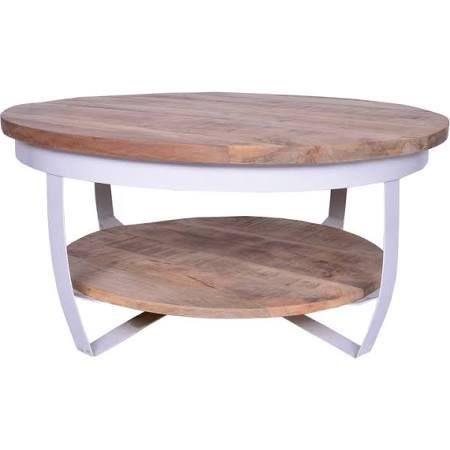 Wonderlijk Deze stoere, industriële en robuuste ronde salontafel is gemaakt SY-11