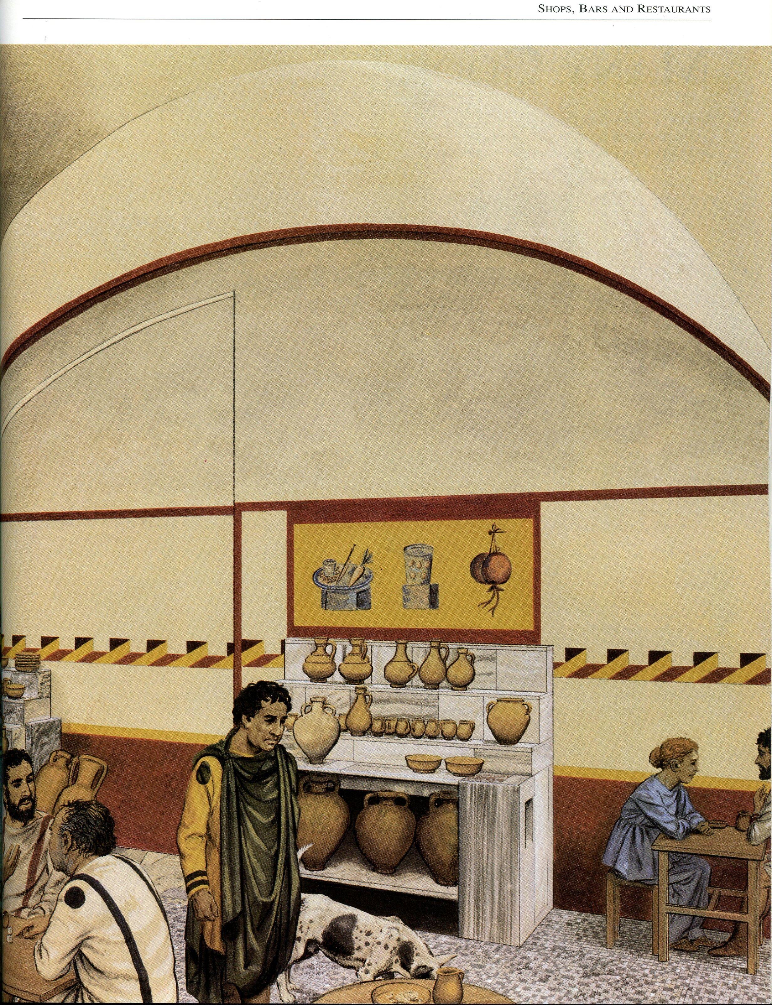 Reconstruction Of A Roman Bar Ancient Roman Art Ancient Rome