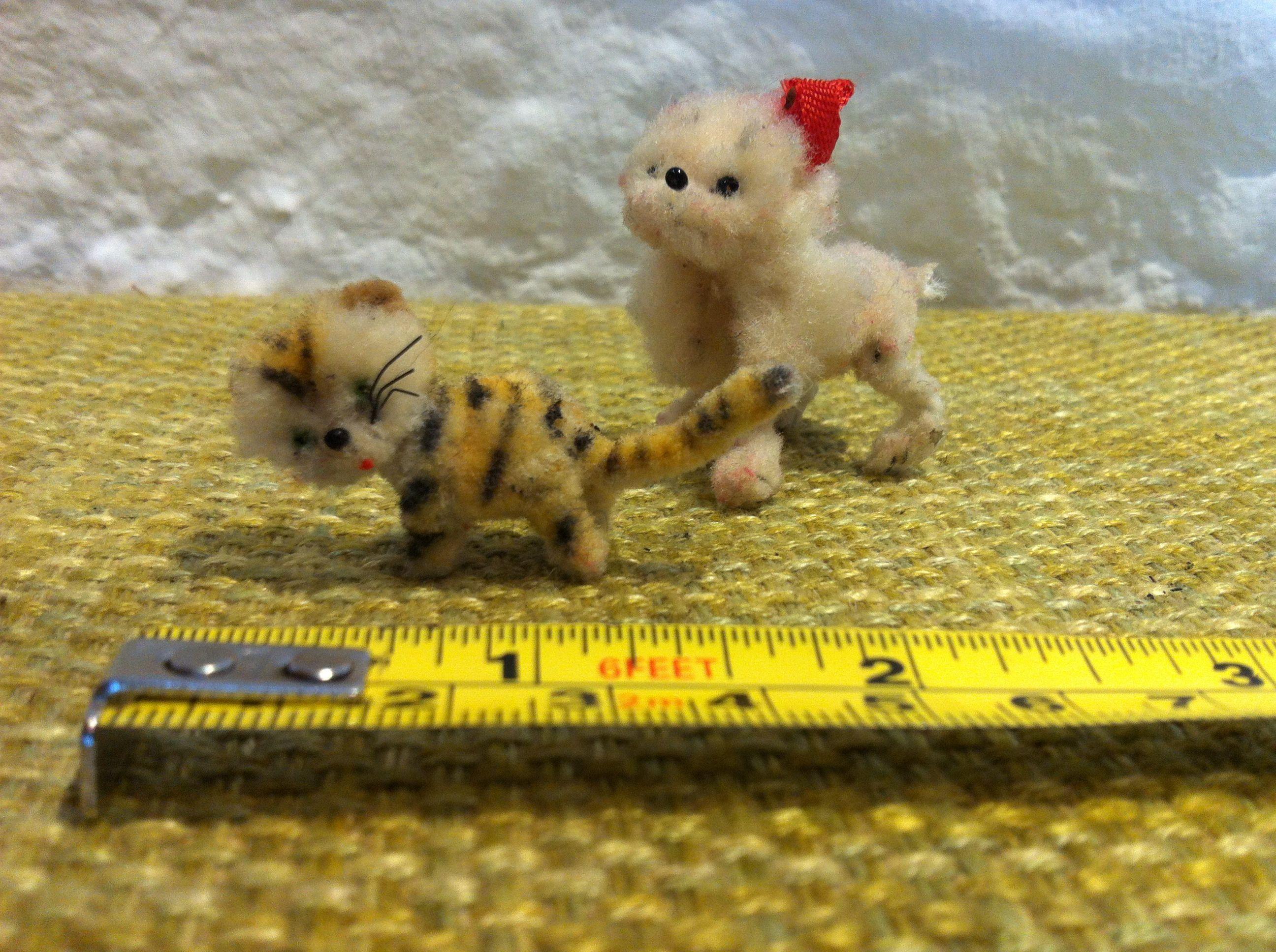Vintage Cat and Dog dollhouse miniatur accessoires | Hund katze ...