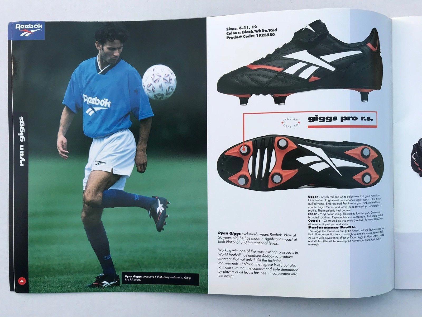 c85dff6a7e2 Reebok Football Soccer 1995 Colour UK Catalogue