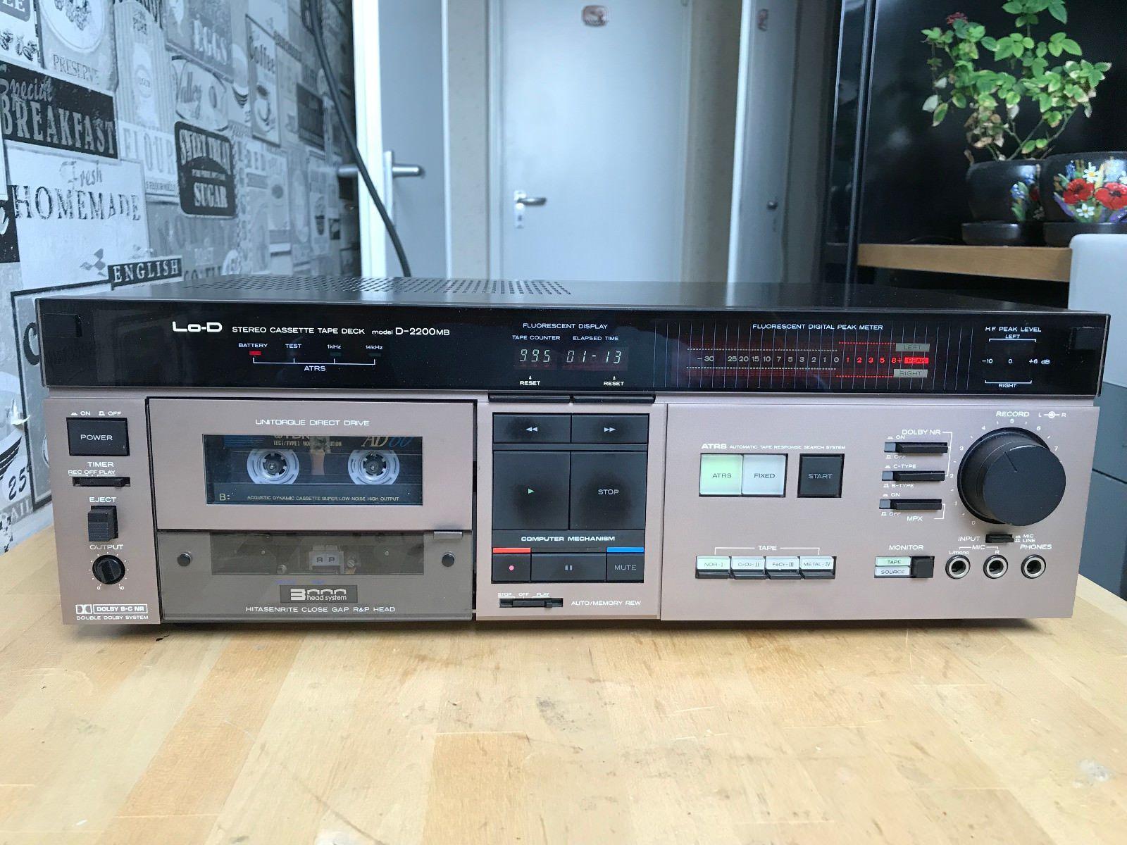 Hitachi Lo D D2200mb 3 Head Ultra Rare Audiophile Cassette Deck Top Condition Hitachi Audiophile Cassette
