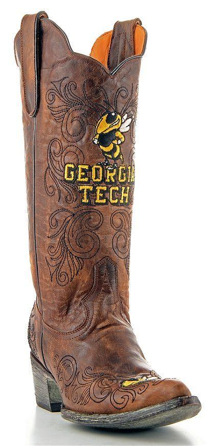 Womens Gameday Boots Georgia Tech