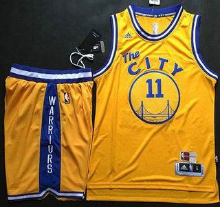 Golden State Warriors 11 Klay Thompson Revolution 30 yellow  a7d513d46
