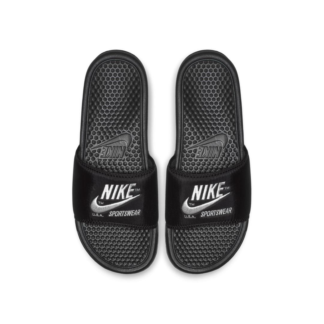 245c243468 Nike Benassi Just Do It Textile SE Men s Sandal Size 13 (Black ...