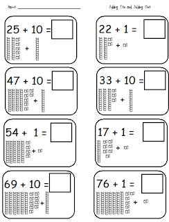 Adding 10 and 1; Subtracting 10 and 1   Math   Pinterest