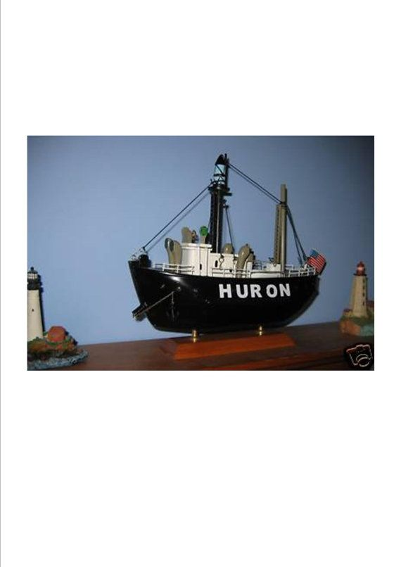 Huron Lightship Or Light Ship Wooden Ship Model By Shoretrader 29 95 If It S A Boy This Would Be So Cool Wooden Ship Models Model Ships Wooden Ship