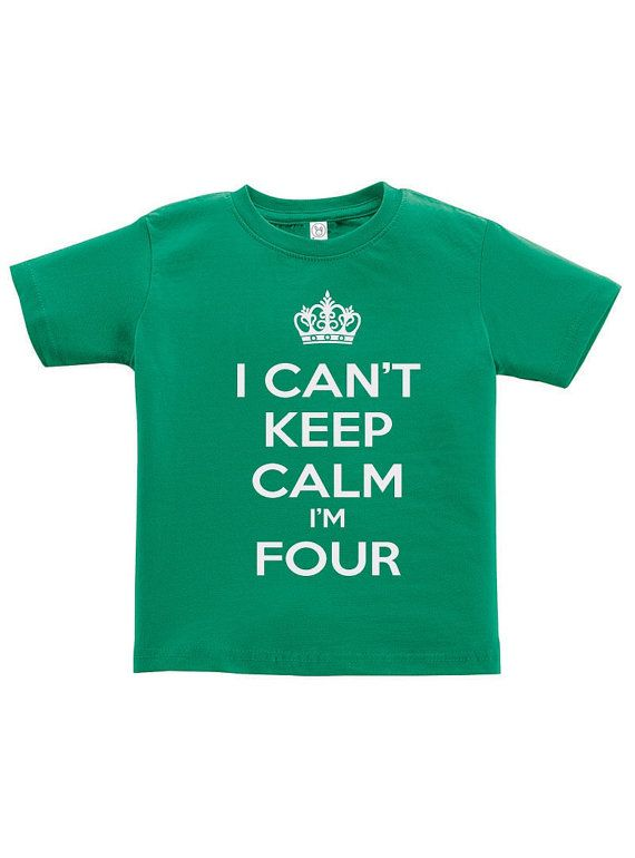 I Cant Keep Calm Im Four Tee