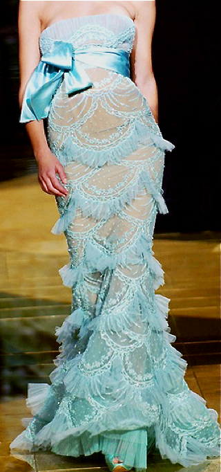 Elie Saab. If this isn't a mermaid dress, I don't know what is. How awful to get sand on it, though.