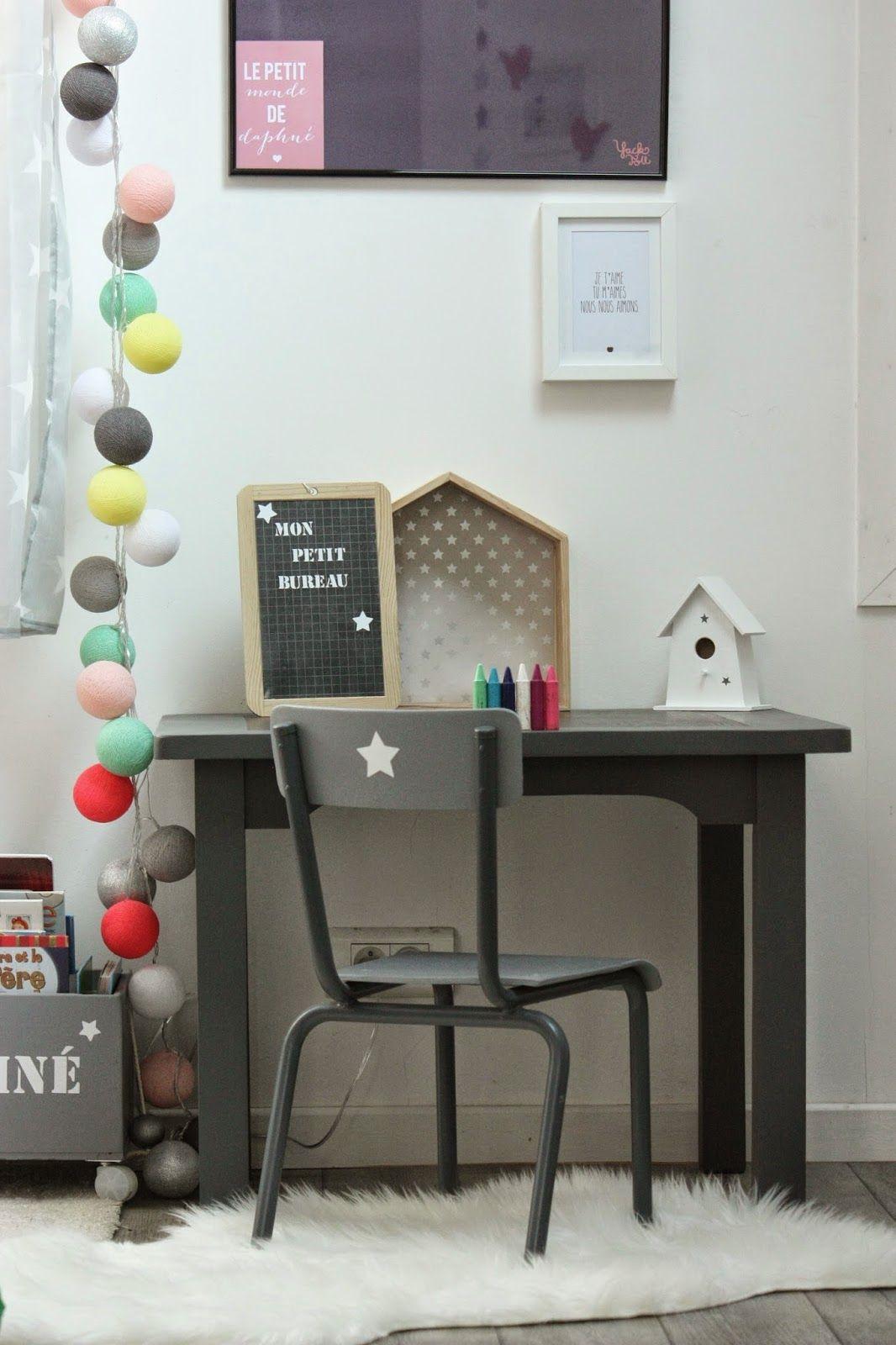 un nouveau regard: customisation d'un bureau pour enfant | chambre