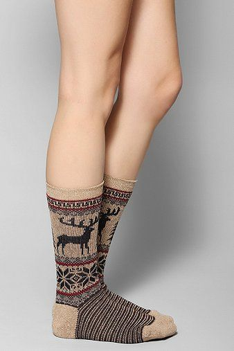 Anonymous Ism Moose Fair Isle Sock | All I Want For X-Mas ...