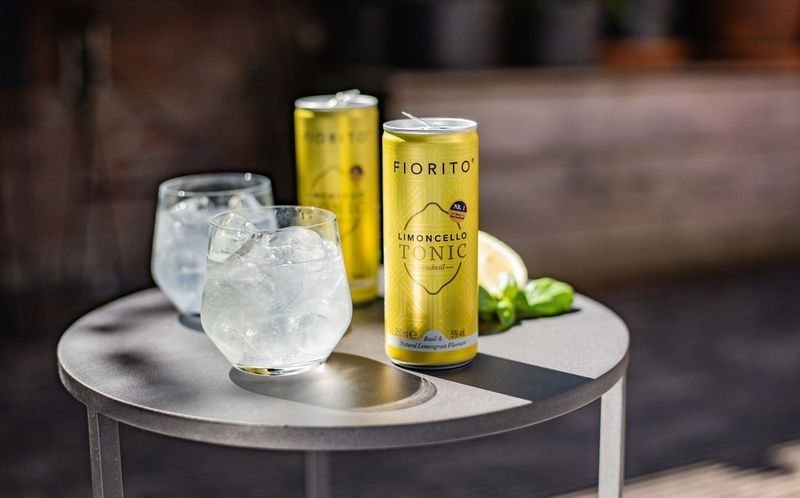 Ready-to-Drink Limoncello Cocktails - The Fiorito Limoncello Tonic is Refreshingly Summery (T...