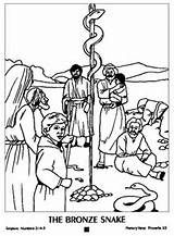 Moses And The Brass Snake Coloring Pages Sunday School Coloring