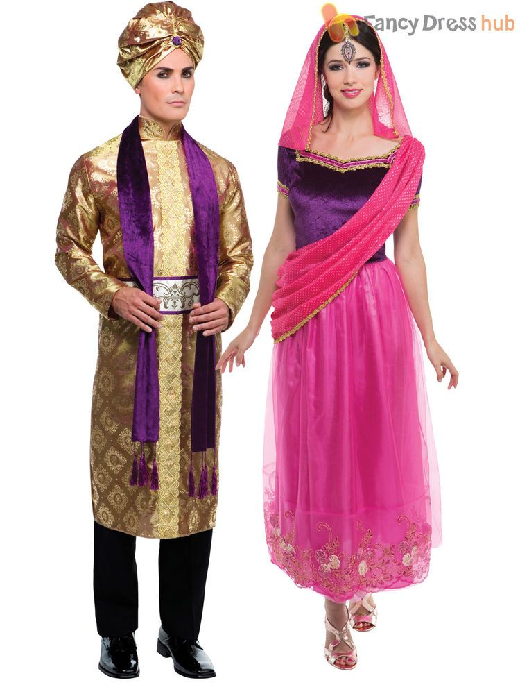 3de1dde9b5 Adult Bollywood Costume Men Ladies Arabian Fancy Dress Woman Belly Dancer  Outfit