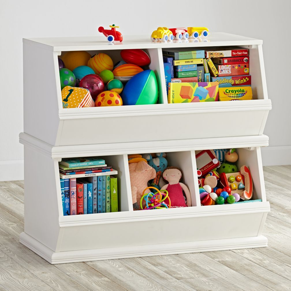 Kids Room Storage Bins white storagepalooza | stacking toys, game storage and toy storage