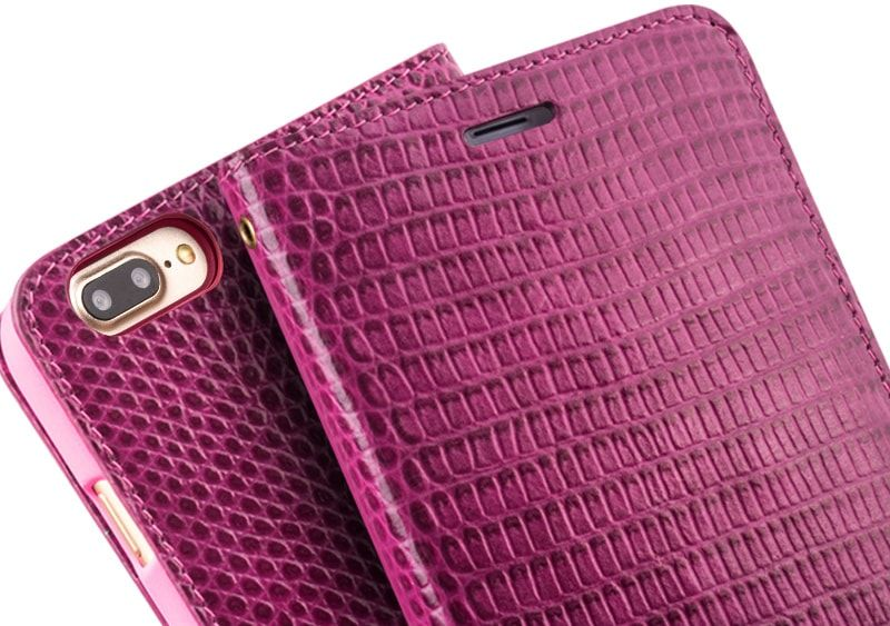 iphone 7 plus pink leather case