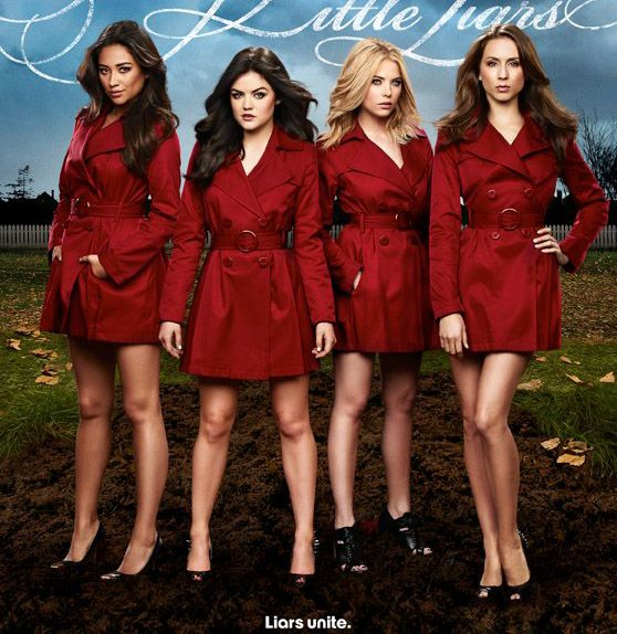 The Pretty Little Liars' red trench coat | TV Show Fashion ...