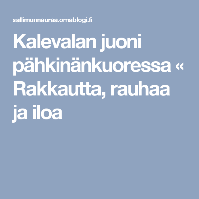 Kalevalan Juoni