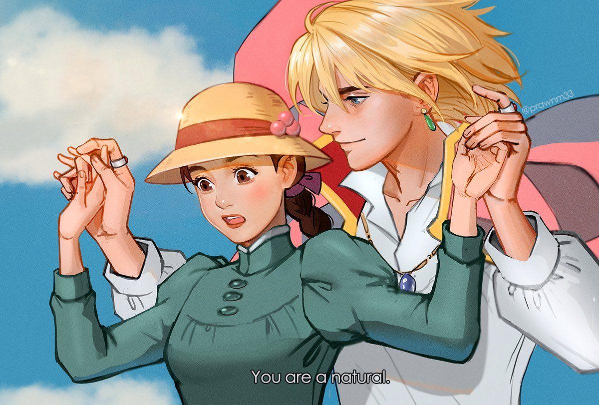 Prawnm33 On Twitter Studio Ghibli Art Howl And Sophie Howl S Moving Castle