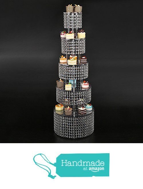 Glamorous Cupcake Tower - Parties Supplies For A, Birthday Party, Bridal Shower Or Wedding 5 Tier Made With High Clarity Genuine Crystal from bride N wedding https://www.amazon.com/dp/B01NA81CO2/ref=hnd_sw_r_pi_awdo_dIwLybQFC09T2 #handmadeatamazon