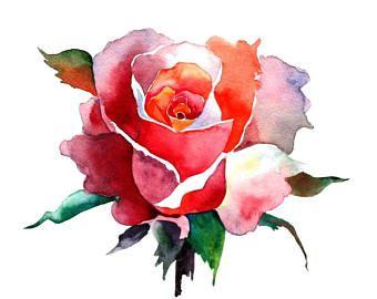 Flower Watercolor Painting Floral Art Print Watercolor Flower