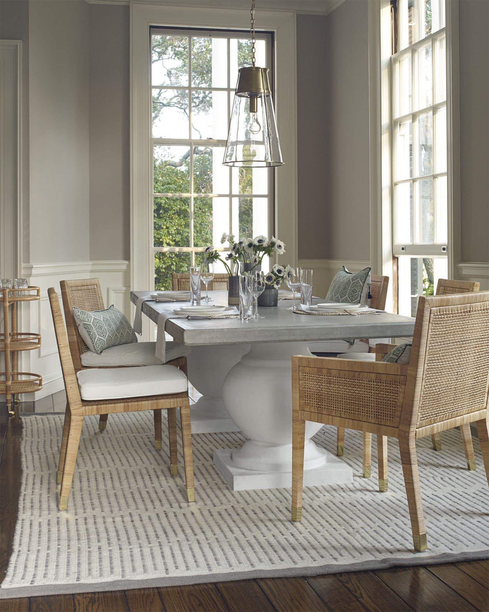 A Luxurious Dining Room Terrace Table And Balboa Chairs Via Serena Lily Luxurybedding